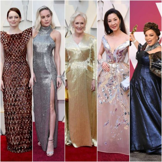Oscars 2019: Glenn Close Swung Big, and Other Glittering Gowns - Go