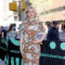 Taylor Schilling Is Wearing '70s Bathroom Wallpaper