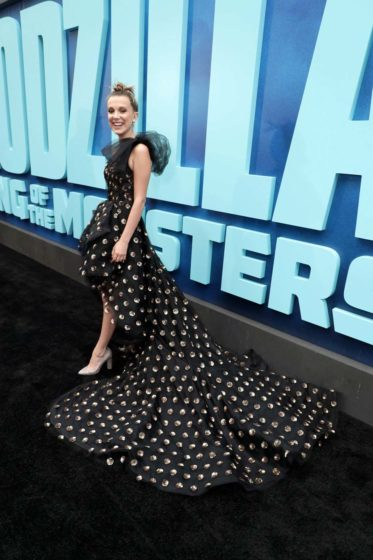 Millie Bobby Brown Wears OdlR for the Godzilla Premiere