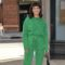 Zoe Chao Is Wearing Green Acid Wash Denim!