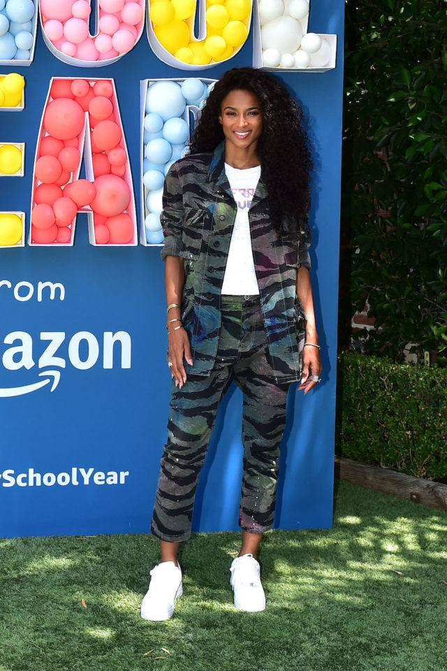 Ciara Kicks off a Happy School Year at Amazon`s Back to School Event