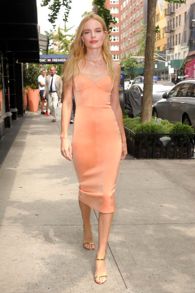 Kate Bosworth Makes A Change During a Press Day in NY