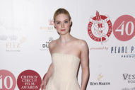 Elle Fanning Is Wearing a Very Pale Gown
