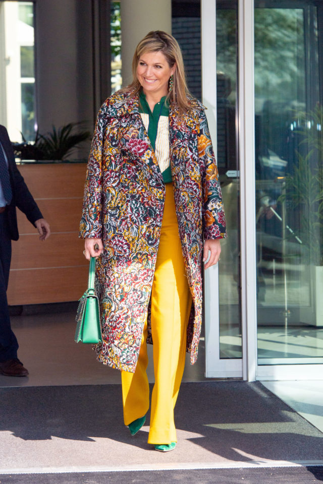 Queen Maxima visit to respiratory systems manufacturer, Enschede, Netherlands - 16 Apr 2020