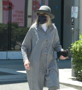 Exclusive - Diane Keaton out and about, Beverly Hills, Los Angeles, California, USA - 18 Jul 2020