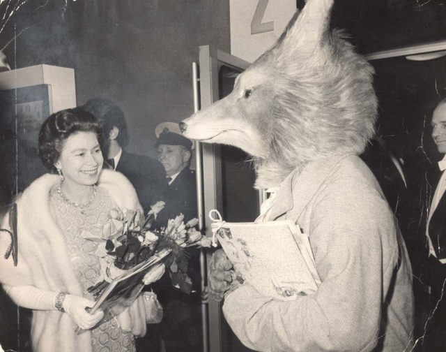 2/4/1971 It''s Not Every Day That The Queen Meets A Fox Particularly In A West End Cinema. But Queen Elizabeth Ii And Princess Anne (now The Princess Royal) Were Welcomed By Mr Fox Of Ambleside - Alias Robert Mead Of The Royal Ballet - When They Went